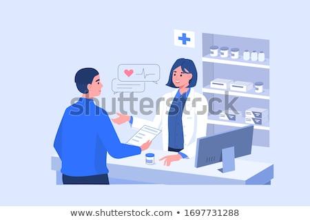 Apotheker geneeskunde business glimlach man Stockfoto © makyzz