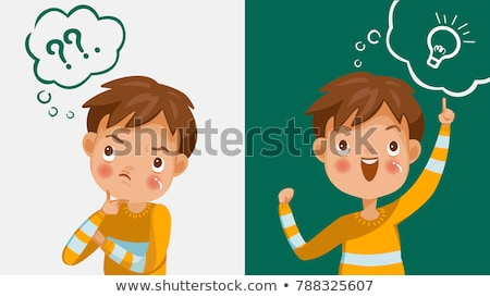 Characters Children Thinking And Understand Vector Stock photo © pikepicture