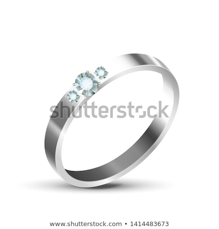 Classic Silver Or White Gold Diamond Ring Vector Stock photo © pikepicture
