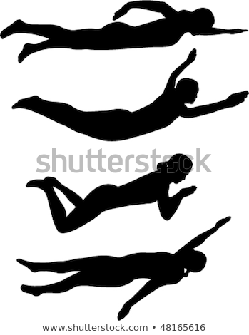 пловец женщину стиль изолированный вектора воды Сток-фото © robuart