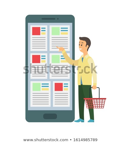 Person Holding Shopping Basket, Ordering Items Stock photo © robuart