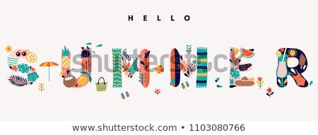Hello lata basen wody tle pływanie Zdjęcia stock © SArts