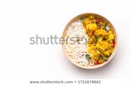 Vegetables curry rice Stock photo © szefei