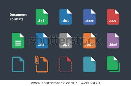 Template file format icons, vector illustration. Stock photo © kup1984