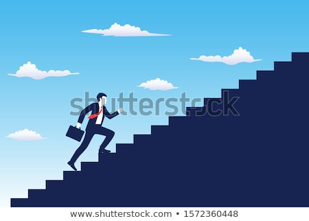 Ambition and climbing the corporate ladder concept Stock photo © Giulio_Fornasar