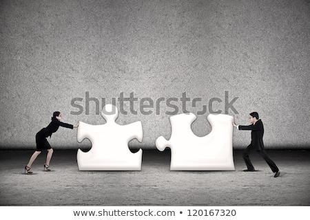 Zwei Geschäftsleute weiß Schreibtisch Stock foto © AndreyPopov