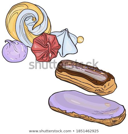 Kleur smakelijk romig cake zoete dessert Stockfoto © pikepicture