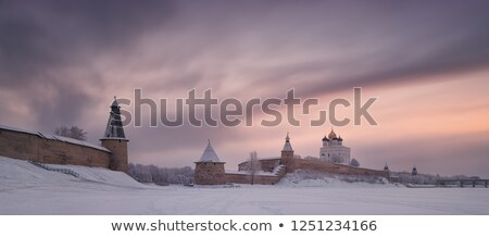 Kremlin kathedraal avond stad kruis zomer Stockfoto © borisb17