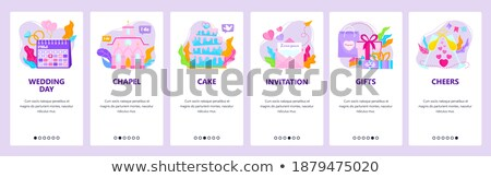 Wedding Vector Onboarding Stock photo © pikepicture