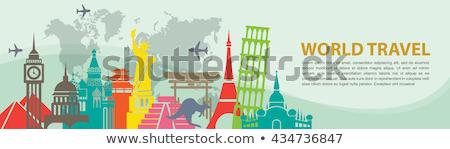 Japán vektor turisztikai szalag minta szöveg Stock fotó © robuart