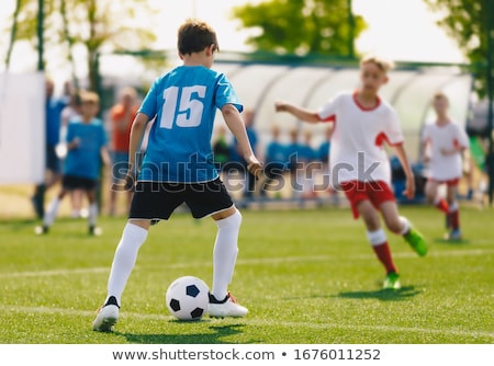 Futballista szabadtér mező futball gyufa futballmeccs Stock fotó © matimix