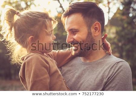 Kız baba mutlu birlikte banyo aile Stok fotoğraf © Lopolo