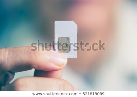 Foto stock: Celular · comunicación · tarjeta · vector · personas