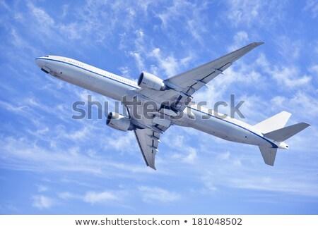 Foto stock: Jet · despegue · agua · espacio · azul · empresarial