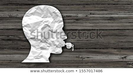 Anonimowy pracownika gwizdać dmuchawy symbol osoby Zdjęcia stock © Lightsource