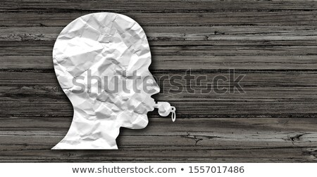 Anónimo empleado silbar soplador símbolo persona Foto stock © Lightsource