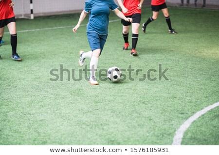 Genç aktif kadın kırmızı mavi spor Stok fotoğraf © pressmaster