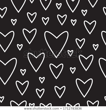 Seamless love background. Repeatable love icons vector pattern - outline style icons collection. Val Stock photo © ukasz_hampel