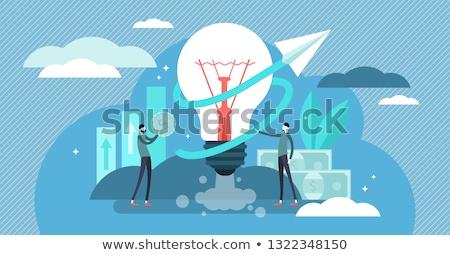 Działalności firmy zarządzania szkolenia biuro przestrzeni Zdjęcia stock © RAStudio