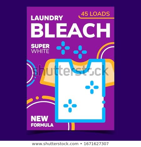 Super clean creativo pubblicità poster vettore Foto d'archivio © pikepicture
