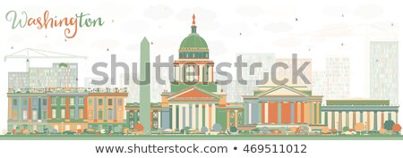 Abstract Washington DC Skyline with Color Buildings. Stock photo © ShustrikS