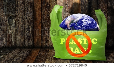 Plastic pollution or unauthorized dumping concept Stock photo © olira