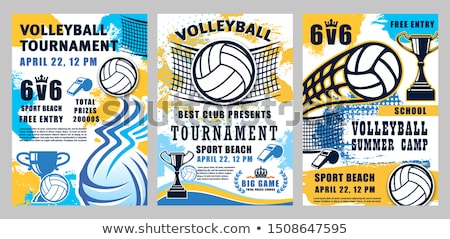 Volleyball Sport World Championship Poster Vector Stock photo © pikepicture