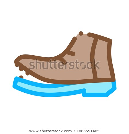 Shoe Torn Sole Icon Vector Outline Illustration Stock photo © pikepicture