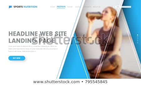Sports nutrition concept landing page. Stock photo © RAStudio