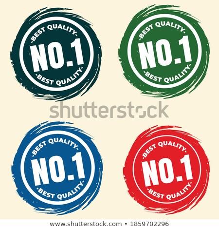 Zadowolenie gwarantować etykiety zestaw cztery Zdjęcia stock © SArts