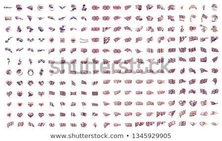 ビッグ コレクション ベクトル フラグ イギリス 背景 ストックフォト © butenkow