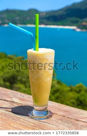 Mango schudden eiland vers organisch restaurant Stockfoto © bloodua