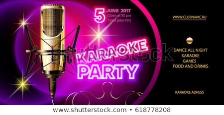 Karaoke Party Creative Promotional Poster Vector Stock photo © pikepicture