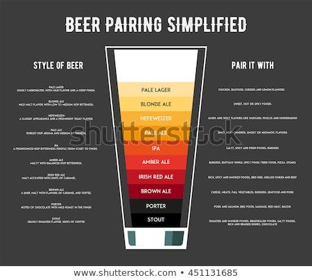 Fles bier glas best schets stijl Stockfoto © Arkadivna