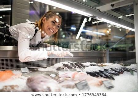 Souriant poissons cartoon illustration drôle subaquatique Photo stock © bennerdesign