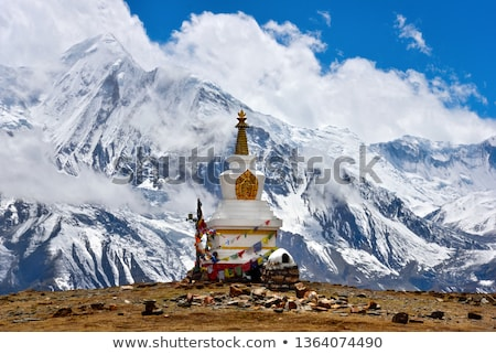 Chortens Tibetan Buddhism stupas in Himalayas Stock photo © dmitry_rukhlenko