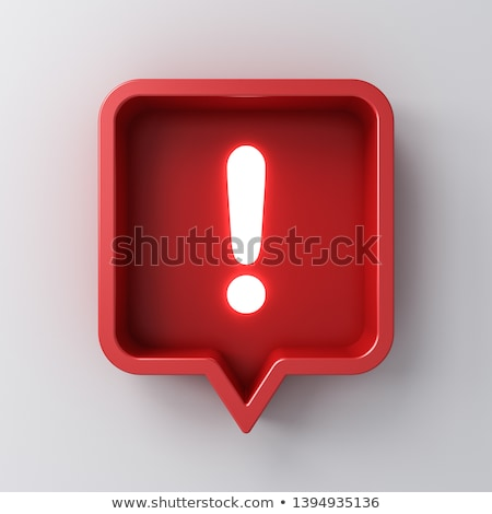 red exclamation point button Stock photo © hlehnerer
