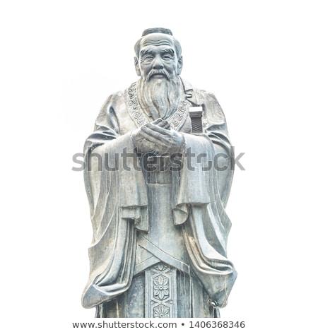 古代 像 男 芸術 石 中国語 ストックフォト © craig