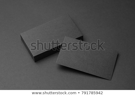 black blank business card stock photo © sielemann