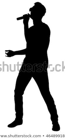シルエット 開く 少年 帽子 ストックフォト © Hasenonkel