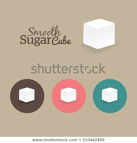 Terrones de azúcar marrón blanco tazón mesa grupo Foto stock © dutourdumonde
