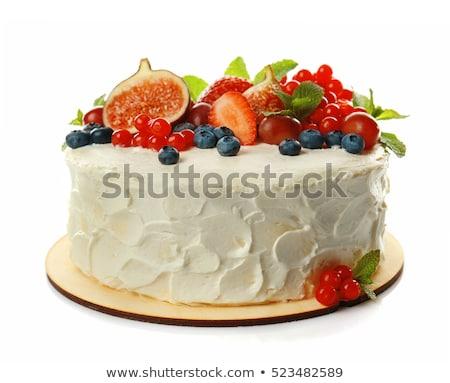 Hermosa decorado pastel de frutas fiesta Foto stock © inxti
