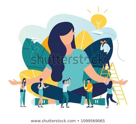 Działalności uzdrowienie smutne biznesmen konsultacji kobiet Zdjęcia stock © smithore