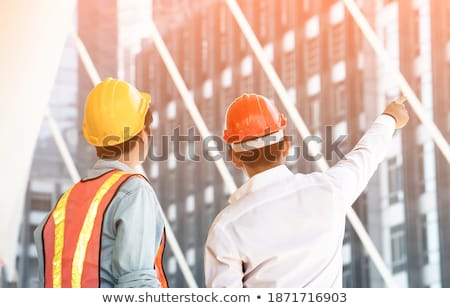 a construction manager pointing his finger Stock photo © photography33