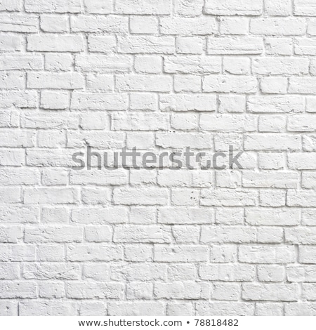 white brick wall perfect as a background square photograph stock photo © rufous
