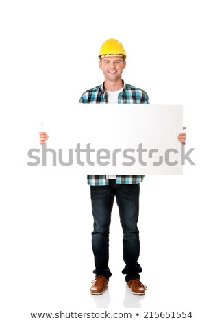 craftsman holding an ad board Stock photo © photography33