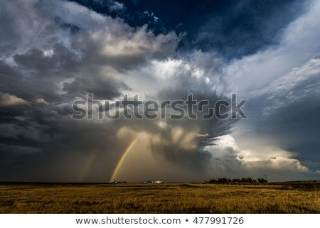Hail Storm and Rainbow Stock photo © pictureguy