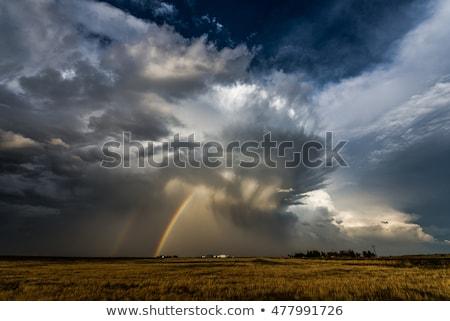 vihar · Saskatchewan · Kanada · baljós · felhők · nyár - stock fotó © pictureguy