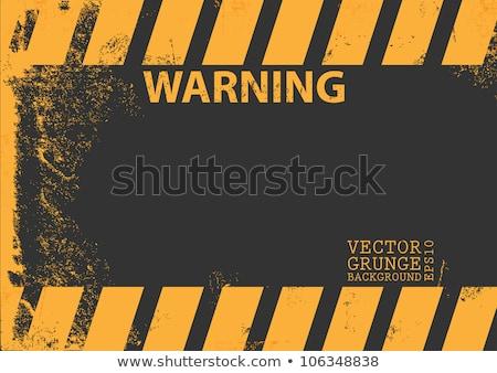 A grungy and worn hazard stripes texture. EPS 8 Stock photo © beholdereye