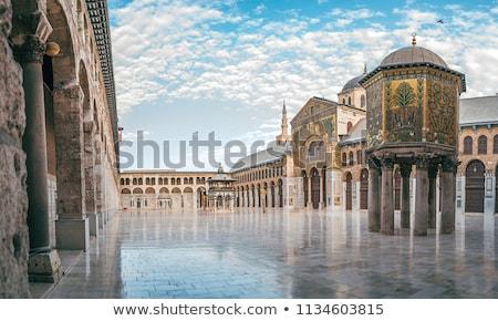 Mesquita blue sky história religião cultura fé Foto stock © bbbar